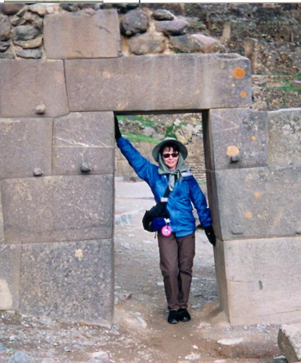 Linda Deir in Peru in 2001