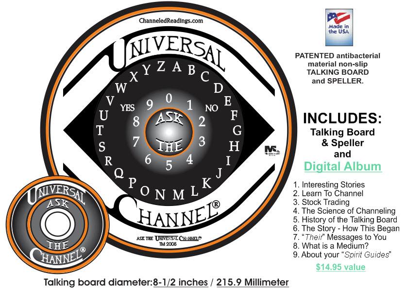 Channeled Readings, LLC - Ask The Universal Channel® talking board set