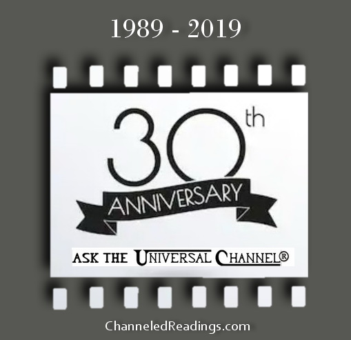 3-versions of Ask The Universal Channel® 30 year anniversary